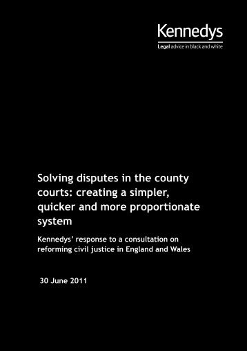 Download Solving disputes in the county courts - Kennedys