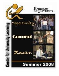 Center for University Learning Summer catalog of classes