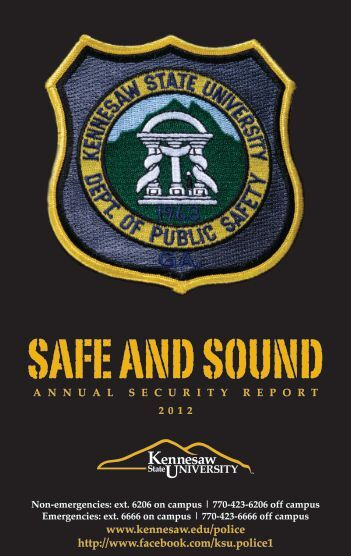 Safe and Sound Online - Kennesaw State University