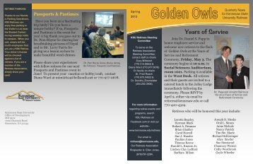 to read the Latest Retirees Association Newsletter! - Kennesaw ...
