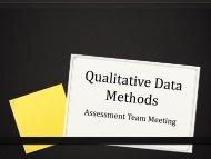 Qualitative Methods: Observation, Focus Groups, Interviews, Rubrics ...