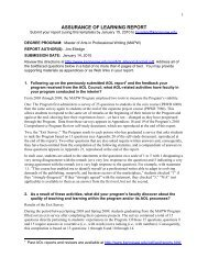 ASSURANCE OF LEARNING REPORT - Kennesaw State University