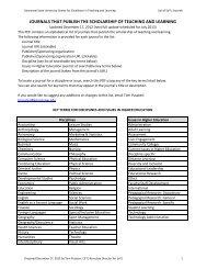 Download: SoTL Journals List - Kennesaw State University