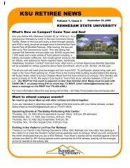 September 2009 - Kennesaw State University
