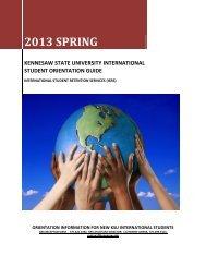 orientation information for new ksu international students