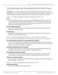 Instructions for Development Plan