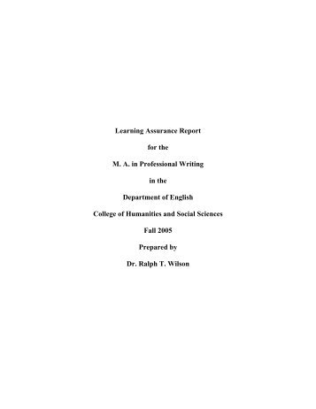 Learning Assurance Report - Kennesaw State University