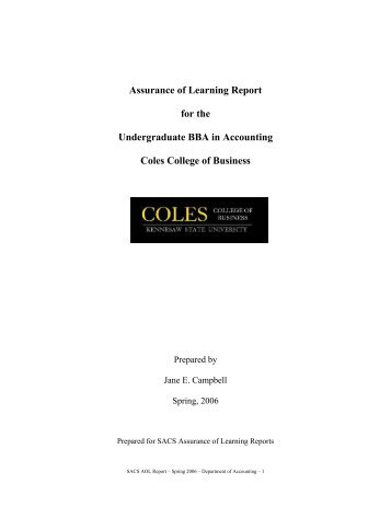 Report - Kennesaw State University