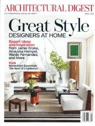 Architectural Digest April 2013 - Kenneth Cobonpue