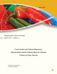 Food, Gender and Cultural Hegemony - Kennesaw State University