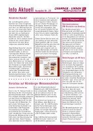 Info Aktuell Ausgabe Nr. 29 - Champex-Linden