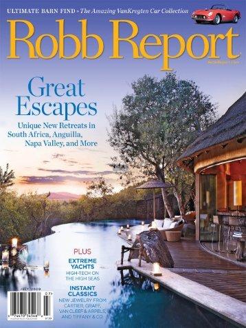 Robb Report July 2009 - Kenneth Cobonpue