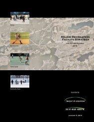 Major Recreation Facility Strategy 2010 - Report - Kenora.ca
