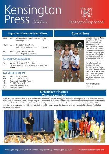 Sports News - Kensington Prep School