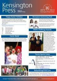 Happy Easter Holidays Brompton Swimming Club ... - Kensington Prep