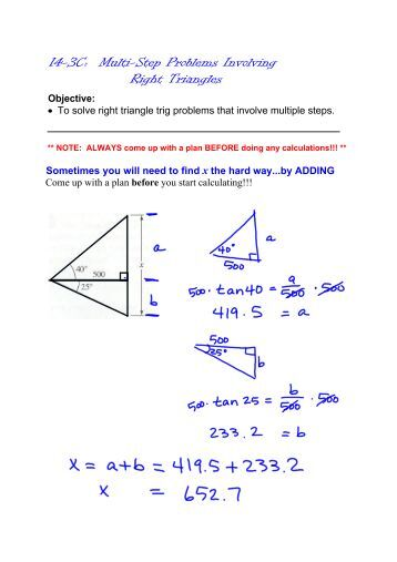 right triangle trigonometry essay