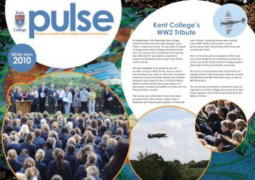 Kent College's WW2 Tribute - Kent College Pembury