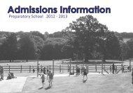 Admissions Information Booklet 2012 & 2013 - Kent College Pembury