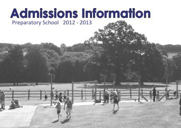 Admissions Information Booklet 2012 & 2013 - Kent College Pembury