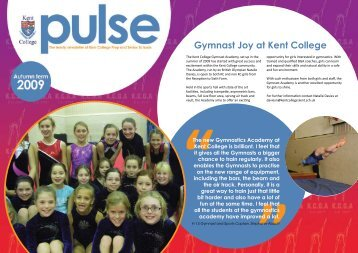 Gymnast Joy at Kent College - Kent College Pembury