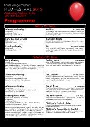 Programme - Kent College Pembury