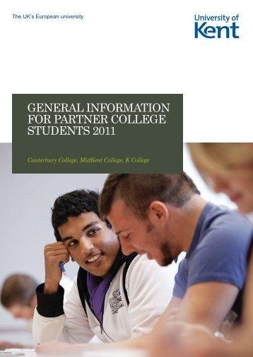 Student handbook - University of Kent