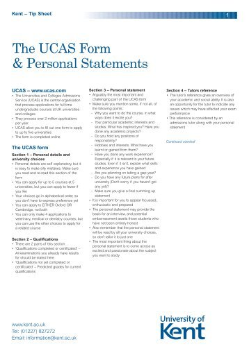 Advice on writing your personal statement