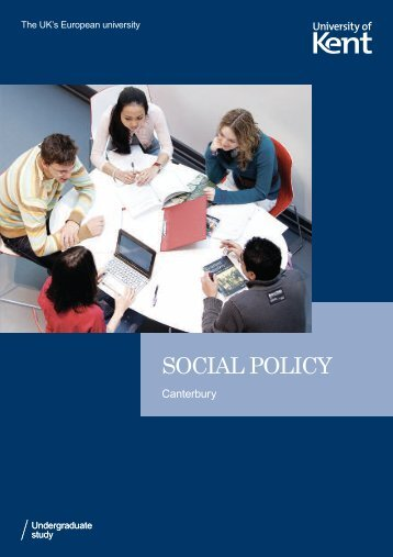 SOCIAL POLICY - University of Kent