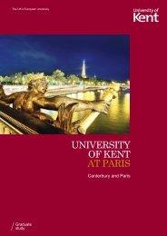 Guide to Kent at Paris - University of Kent