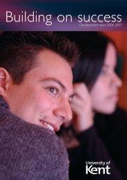 Development news 2006-2007 - University of Kent