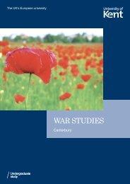 War Studies PDF - University of Kent