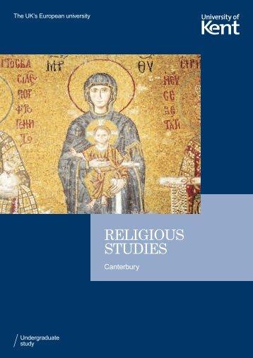 RELIGIOUS STUDIES - University of Kent