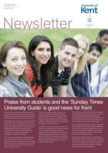 Praise from students and the 'Sunday Times ... - University of Kent