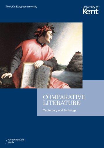 COMPARATIVE LITERATURE - University of Kent
