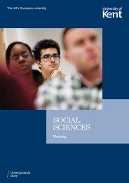 SOCIAL SCIENCES - University of Kent