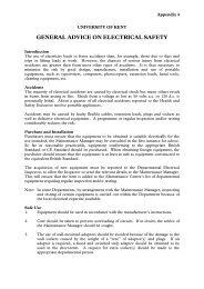 Appendix 4 - General Advice on electrical safety - University of Kent