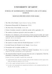 Applied Algebraic Topology - University of Kent