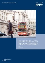 BUSINESS AND MANAGEMENT - University of Kent