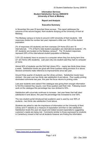 Full report and analysis (pdf format) - University of Kent