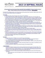 2013-14 SOFTBALL RULES - Kent State University
