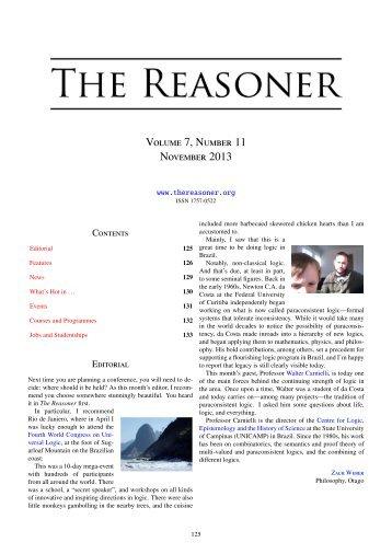 Volume 7, Number 11 November 2013 - University of Kent