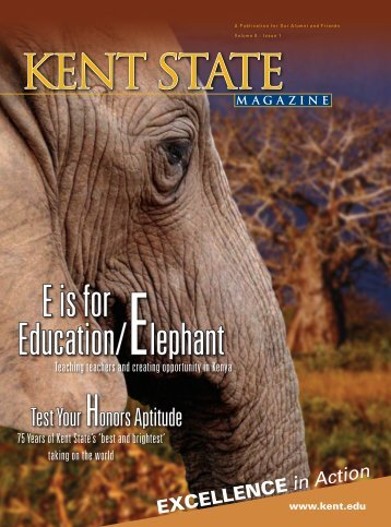 E is for Education/Elephant - Kent State University