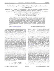 Elasticity of Lyotropic Chromonic Liquid Crystals Probed by Director ...