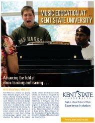 MUSIC EDUCATION AT KENT STATE UNIVERSITY
