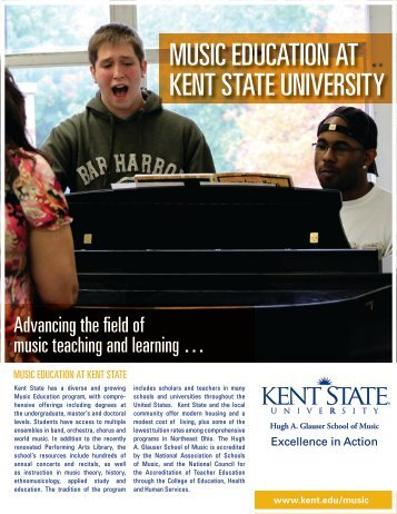 MUSIC EDUCATION AT KENT STATE UNIVERSITY