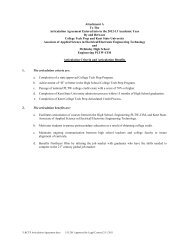 Attachment A To The Articulation Agreement Entered into in the ...