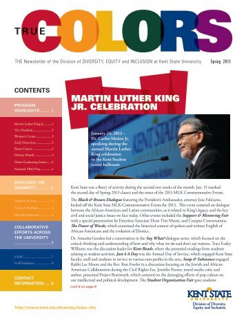 Spring 2013 True Colors - Kent State University