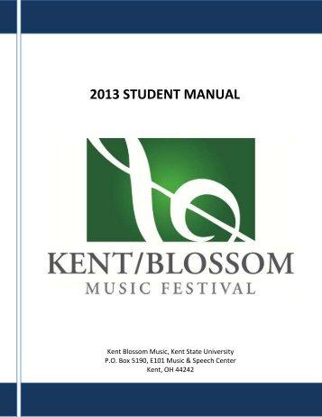 2012 Student Manual - Kent State University