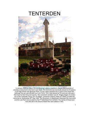 TENTERDEN - Kent Fallen