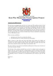 Kent War Memorials Transcription Project - Kent Fallen